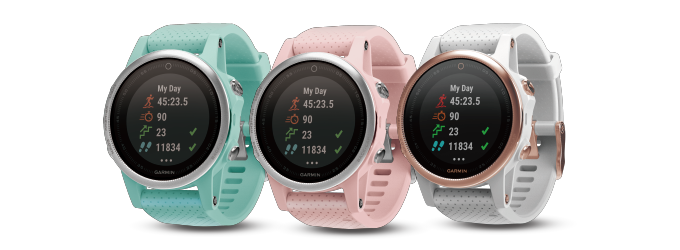 Garmin Fenix 5s Flaunts New Colours In Rose Goldtone Frost Blue And