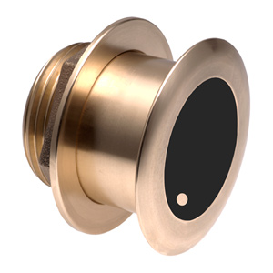 Bronze Tilted Thru-hull Transducer with Depth & Temperature (12° tilt, 8-pin) - Airmar B175H