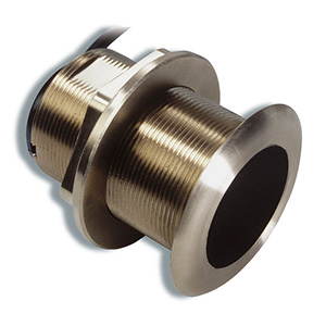 Bronze Tilted Thru-hull Transducer with Depth & Temperature (20° tilt, 8-pin) - Airmar B60