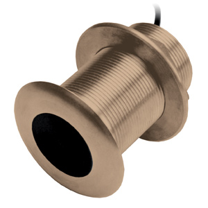 Bronze Thru-Hull Mount Transducer with Depth & Temperature (12° tilt) - Airmar B619